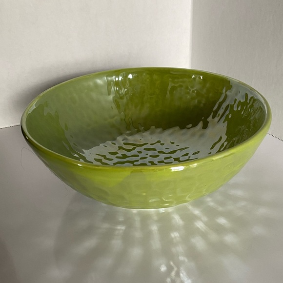 """Green Textured Ceramic 8"""" Bowl - Made in ITALY"""